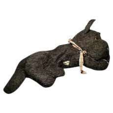 1940's dog pyjama case, Scottish terrier, Scotty dog