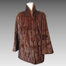 Vintage 1940's Canadian squirrel fur swing jacket