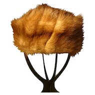 Vintage Canadian squirrel fur hat, Kates Boutique, 1950's