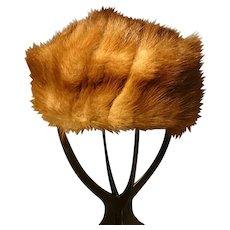 Vintage Canadian squirrel fur hat, Kates Boutique, 1950's