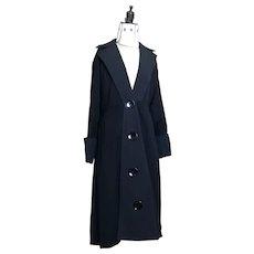 Vintage 1930's Black Gabardine Princess coat