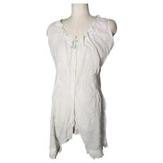 Victorian combination undergarment, all in one drawers and chemise