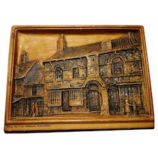 Antique Ivorex plaque, The Jews House Lincoln, Arthur Osborne