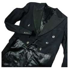 Gents 1920's tailcoat, mens vintage dinner jacket