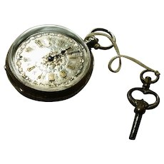 Victorian fine silver pocket watch / fob watch