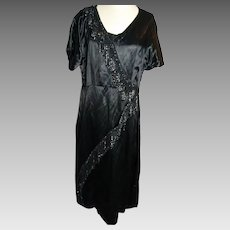1920's Art Deco flapper style evening dress, vintage handmade