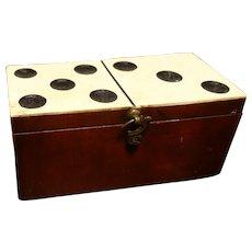Antique bone dominoes, Georgian era, Domino design box