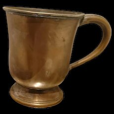 Antique edwardian 1909 copper mug