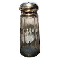 Vintage 20's sugar shaker / castor, sterling silver top