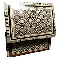 Antique Vizagapatam, 19th century Anglo-Indian box, mother of pearl