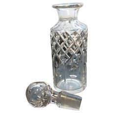 Victorian scent bottle, antique Crystal cut glass scent decanter