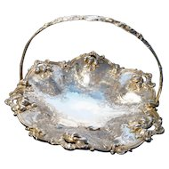 Victorian silver plated cake basket / fruit basket, brides basket