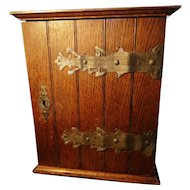 Large antique smokers cabinet, rustic Edwardian oak
