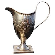 Georgian sterling cream jug, Peter and Ann Bateman, 1795