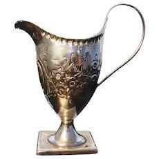 Georgian sterling cream jug, Peter and Ann Bateman, 1795