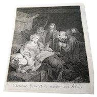 Christus geneest de moeder van Petrus, Johannes Pieter De Frey after Gabriël Metsu, 1797
