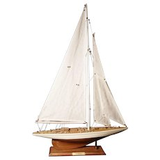 Vintage scale model yacht, Shamrock America's Cup