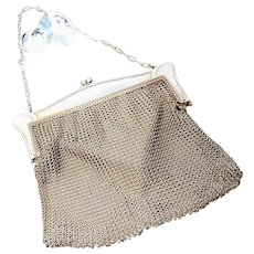 Antique chain mail purse, mesh evening bag