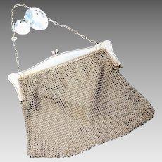 Antique chain mail purse, mesh evening bag