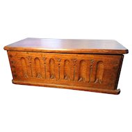 Victorian gothic box, church donation box, solid oak
