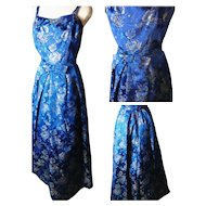 Vintage 50's brocade dress, evening gown