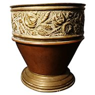Victorian copper planter, rustic decor