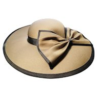 Vintage wedding / sun hat, olive green, London Miliner