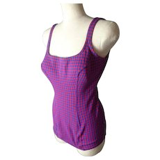 Vintage 1960's swimsuit, classic Pin-up swimming costume