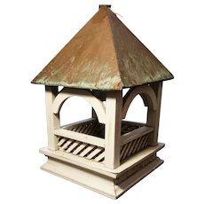 Rustic vintage porch lantern / bird feeder