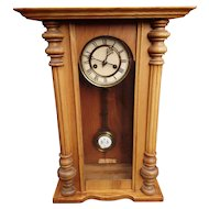 19th Century Vienna style wall clock, Regulator pendulum