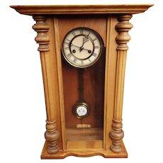 19th Century Vienna style wall clock, Regulator pendulum