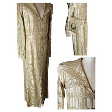 Vintage gold cocktail jacket, statement, matching purse