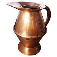 Antique copper haystack measure, Georgian era ale jug