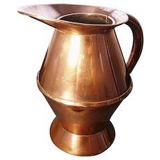 Antique copper haystack measure, Georgian era ale jug