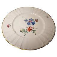 Antique KPM Berlin porcelain plate, hand painted