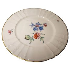 Antique KPM Berlin porcelain plate, hand painted