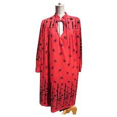 Vintage tent dress, paw print, designer
