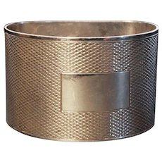 Vintage silver napkin ring, boxed, no monograms, heavy