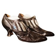 Vintage 20's French dance shoes, Art Deco