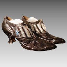 Vintage 20's French dance shoes, Art Deco