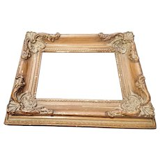 Antique wood and gesso picture frame