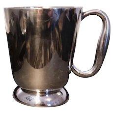 Vintage silver plated pint measure, ale mug, Elkington and Co