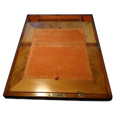 Victorian writing box, enclosed writing slope