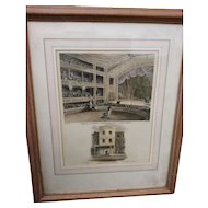 Antique copperplate Engraving, Astleys Amphitheater, 1815