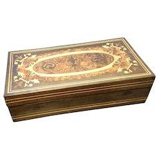 Antique Sorrento ware box, Italian