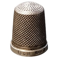 Victorian sterling silver thimble, fully hallmarked