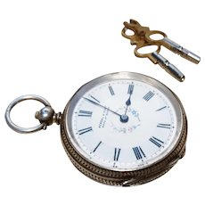 Antique fine silver pocket watch, Kendal and Dent