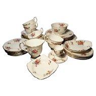 Vintage tea set, Crown Staffordshire, 40pcs