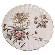 Antique Wild Flower plate, Aesthetic era, S. Hancock