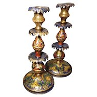 Antique Ottoman candlesticks, 19th century